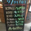 \7/21 本日は日曜日の為変動はございません!貴金属は大阪屋!/